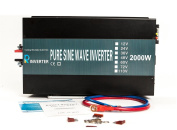Reliable off grid 2000W 24V DC to 230V AC output (UK socket) pure sine wave solar power inverter home power supply