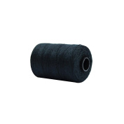 HAIR EXTENSIONS WEAVE / WEFT THREAD BLACK BROWN COTTON (Black