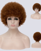 Falamka Afro Fluffy Curly Brown Capless Synthetic Women Wig