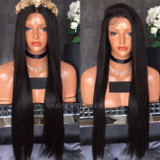 Vanessa Queen Cheap Lace Front Wigs Half Hand Tied Synthetic Hair for Women Black Straight Wigs Heat Resistant Hair 50cm
