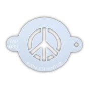 TAP 033 Face Painting Stencil - Peace Sign