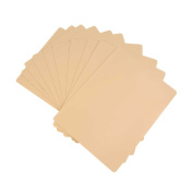 10 Pieces Tattoo Practise Skins Blank Tattoo Practise Skin Sheet for Tattoo Acessories 20cmx15cm