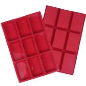 ZWANDP 9-Cavity Rectangle Silicone Baking cake pan Soap mould
