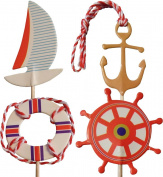 Nautical Picks Cake Toppers