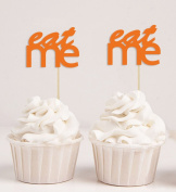 Darling Souvenir, Eat Me Wedding Cupcake Toppers , Baby Shower Party Dessert Decorations Picks - Pack Of 20