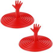 Promobo Set of Red 6 cm Kitchen Sink Plug Fantasy Design 2 Pack