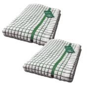 Premium Poli Dri Large Kitchen Tea Towels by Lamont, TWINPACK