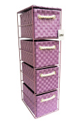 Arpan Purple 4-Drawer Storage Unit Ideal For Home/Office/bedrooms