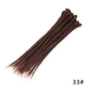 MZP Dirty braided hand purely handmade monochrome dirty braided wig African dirty braid men and women docked rock street dance pigtail , dark brown