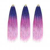 MZP Fashion pigtail national wind little pigtail men and women then send dirty braid wigs ghosts pigtail male African pigtail , blue + purple + pink