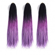 MZP Fashion pigtail national wind little pigtail men and women then send dirty braid wigs ghosts pigtail male African pigtail , black + purple + violet