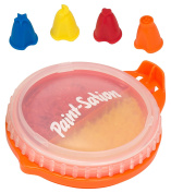 Paint-Sation 2442 Anti-Gravity Technology Finger Nibs Red Regular and Yellow Glitter Paint