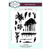 Creative Expressions Lisa Horton A5 Clear Stamp Set - CEC848 Tropical Grunge