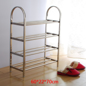 Simple creative magic shoe frame stainless steel four - storey shoe racks exquisite shoe cabinet