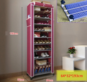 Home to strengthen the mobile dustproof simple shoe rack stainless steel multi-layer sunscreen balcony Oxford cloth shoe cabinet disassembly combination