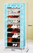 Shoe rack multi - storey solid wood modern simple Oxford cloth dust dormitory economy home simple shoe cabinet