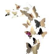 Wall Sticker,Wall Stickers Decal Butterflies 3D Mirror Wall Art Home Decors
