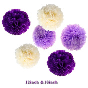 Ipalmay Assorted Colours Tissue Paper Pom Poms Flower Balls For Weeding Birthday Party Decorations
