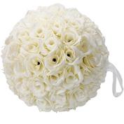 Patty Both Elegant 25cm Satin Flower Ball for Wedding Party Ceremony Decoration