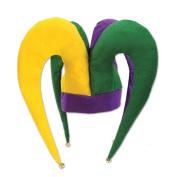 Beistle 53334 Felt Jester Hat, Green/Purple/Yellow