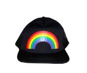 Amscan Rainbow Mesh Baseball Style Cap, Black, One Size