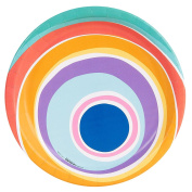 Colourful Pom Rainbow Cake Party Supplies Dinner Plate