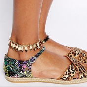 Aukmla Ankles for Women with Pendant Leaves Tassels Fashion Chic Foot Chain