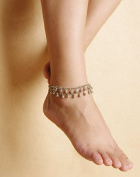 Aukmla Anklets Chain 1PC for Women Yoga 2-Tier Beach New Fashion Barefoot Sandal Foot Bracelets