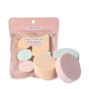 Yousha 5Pcs Makeup Foundation Sponge Blender Flawless Beauty Powder Puff Multi-function Blending Sponge Multi-coloured