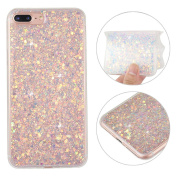 iPhone 7 Plus Back Case, iPhone 7 Plus Cover, Rosa Schleife 3D Creative Design Sparkle Luxury Bling Glitter Soft TPU Bumper Phone Case Protective Skin Shell Cases Covers for Apple iPhone 7 Plus