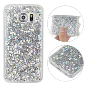 Galaxy S6 Edge Back Case, Samsung Galaxy S6 Edge Cover, Rosa Schleife 3D Creative Design Sparkle Luxury Bling Glitter Soft TPU Bumper Phone Case Protective Skin Shell Cases Covers for Samsung Galaxy S6 Edge