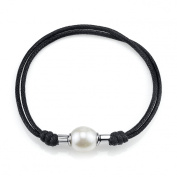 11mm Rice Shaped Freshwater Cultured Pearl & Rope Bracelet