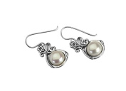 Classic Shablool FW White Earrings Hand Crafted