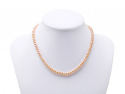 JYX 5mm Natural Freshwater Cultured Pearl Necklace Choker 16""