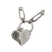 Wonderful SHABLOOL ISRAEL Didae Heart FW Pearl Sterling Silver 925 Necklace