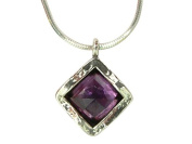 Special SHABLOOL ISRAEL Didae Handcrafted Amethyst Sterling Silver 925 Necklace