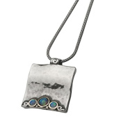 Genuine SHABLOOL ISRAEL Didae Handcrafted Opal 925 Sterling Silver Necklace
