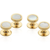 Mother of Pearl Studs in Gold Tone