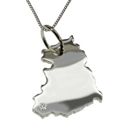 50 cm Necklace and DDR with a Brilliant 0,015ct Once In Your Pendant in 925 Silver