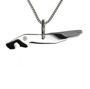 Norderney 50 CM Necklace Pendant with A brilliant 0,015ct your Wunschort in 925 Silver