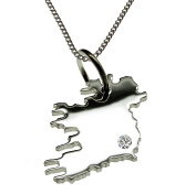 50 CM Necklace Pendant (Ireland) complete with A brilliant 0,015ct to your Wunschort in 925 Silver