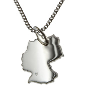 50 cm Necklace + Pendant Brilliant 015ct 0.Its A Germany in 925 Silver Wunschort