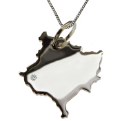 50 cm Necklace + Pendant Brilliant 015ct Your Kosovo in 0.with A Silver 925 Wunschort
