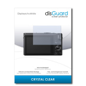 """2 x disGuard® Screen Protector Panasonic Lumix DMC-LX15 Screen Protection Film """"CrystalClear"""" invisible"""