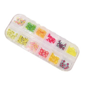 NAILFUN 240 Fruity Fimo Slices in a Storage Box