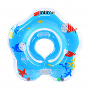 moinkerin Children Baby Infant Kids Toddler Inflatable Round Neck Float Swim Ring Swimming Flipper circle for Neck Swim Help 0-12 months Colour Range