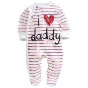 ChenStarUK baby clothes love Dad and mummy boys girls rompers Playsuit Sleepsuit (70
