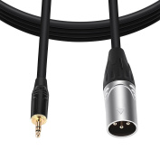 BC Master TRRXL10 3.5mm Male TRS to XLR Male Microphone Cable 3M/10Ft