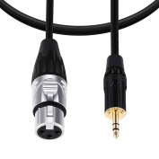 BC Master TRRXL4 XLR Female to 3.5mm Male Microphone Mic Audio Cable, 1.2M/4Ft