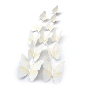 Home Decoration! Thanksgiving 12Pcs 3D Butterfly Magnet Wall Stickers Vovotrade